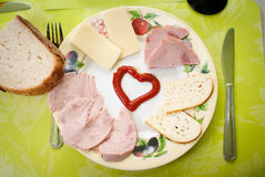 Ham and chees Stock Image