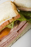 Ham and cheese. Close up of a  ham and cheese sandwich Royalty Free Stock Photography