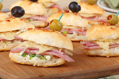 Ham and Cheese Appetizers Royalty Free Stock Image