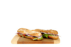 Ham and cheese baguette Stock Image