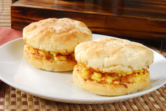 Ham and cheese biscuit Royalty Free Stock Images