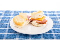 Ham and Cheese Biscuits Royalty Free Stock Photos