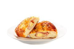 Ham cheese and bread Royalty Free Stock Photography