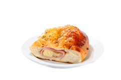 Ham cheese and bread Stock Images