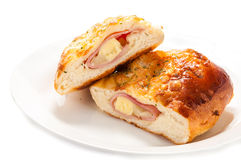 Ham cheese and bread Stock Image