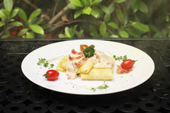 Ham & cheese crepe Royalty Free Stock Photography