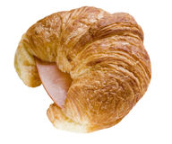 Ham and cheese croissant Royalty Free Stock Photography