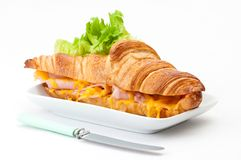 Ham & Cheese Croissant Stock Photo