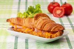 Ham & Cheese Croissant Stock Image