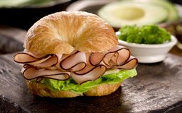 Ham and Cheese Croissant Royalty Free Stock Photos