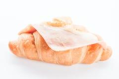 Ham cheese croissant Stock Photography