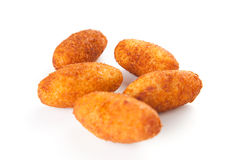 Ham and cheese croquettes Royalty Free Stock Image