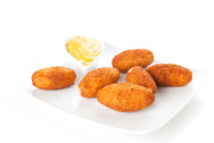 Ham and cheese croquettes Royalty Free Stock Photography