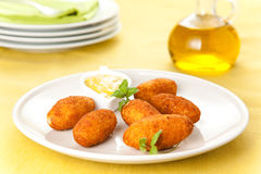 Ham and cheese croquettes Royalty Free Stock Images