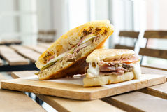 Ham cheese Cuban sandwich Royalty Free Stock Photography