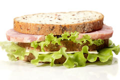 Ham and cheese double sandwich Royalty Free Stock Photo