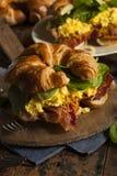 Ham and Cheese Egg Breakfast Sandwich Stock Photos