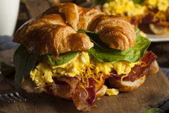 Ham and Cheese Egg Breakfast Sandwich Royalty Free Stock Image