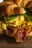 Ham and Cheese Egg Breakfast Sandwich Royalty Free Stock Photography