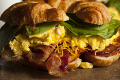 Ham and Cheese Egg Breakfast Sandwich Stock Photography