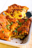 Ham, cheese and egg casserole Royalty Free Stock Image