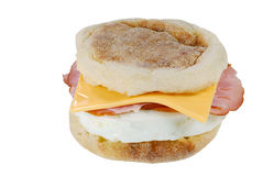 Ham cheese egg on an english muffin Royalty Free Stock Image