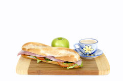 Ham and cheese French bread Royalty Free Stock Images