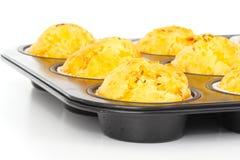 Ham - cheese - muffins Stock Photo