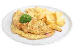 Ham & Cheese Omelet Royalty Free Stock Photography