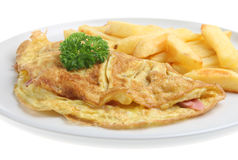 Ham & Cheese Omelet Stock Images