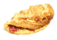 Ham & Cheese Omelette Isolated Royalty Free Stock Photos