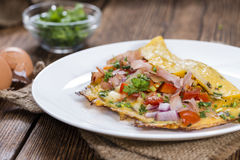 Ham and Cheese Omelette Stock Images