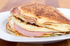 ham and cheese pancake breakfast Stock Image