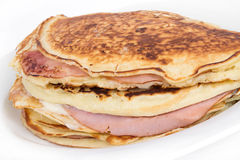 ham and cheese pancake breakfast Stock Photography