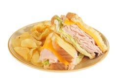 Ham and Cheese Panini stock photos