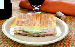 Ham and Cheese Panini Royalty Free Stock Photography