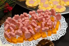 Ham And Cheese Party Platter mignon photo libre de droits