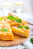 Ham and cheese pie Stock Images