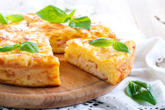 Ham and cheese pie Royalty Free Stock Photos