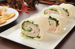 Ham and cheese pinwheels Stock Photography