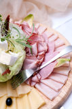 Ham and cheese plate Royalty Free Stock Image