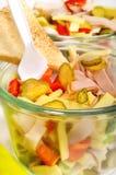 Ham and cheese salad Stock Photo