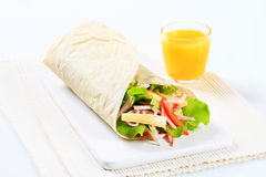 Ham and cheese salad wrap Stock Photo