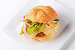 Ham and cheese sandwich Stock Photography