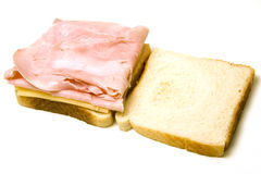 Bite Of Ham And Cheese Sandwich Stock Photo - Image of ...