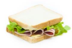 Ham cheese sandwich royalty free stock photos