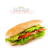 Ham and cheese sandwich Royalty Free Stock Photo