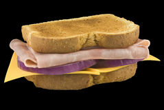 Ham and Cheese Sandwich Stock Image