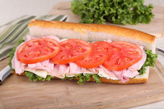 Ham and Cheese Sandwich Stock Images