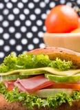 Ham Cheese Sandwich Indicates Bread Rolle und Rolls lizenzfreies stockbild
